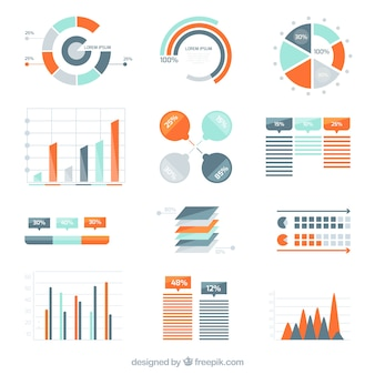 Variety of infographic diagrams