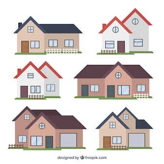 Разнообразие современных домов в плоском исполнении