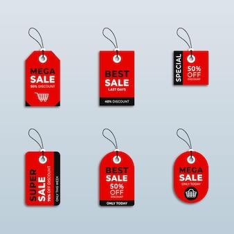 販売ラベルコレクションのさまざまな価格と割引ラベル