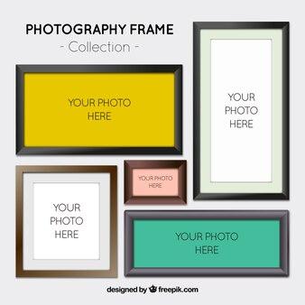 Разнообразие реалистичных рамок для фотографий