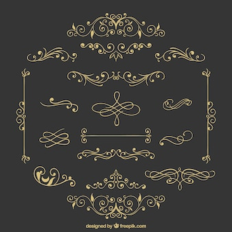 レトロな装飾品の様々な
