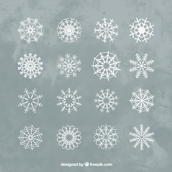Variety of snowflakes to decorate