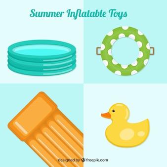 Разнообразие летних надувных игрушек Бесплатные векторы