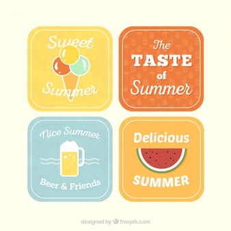 Variety of summer labels