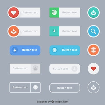 Variety of text buttons