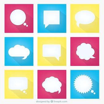 Разнообразие белого речи пузыри