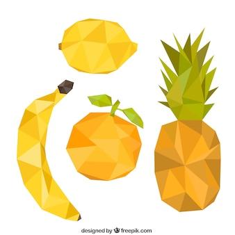Variety of polygonal fruits