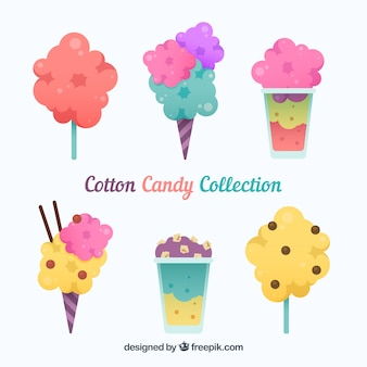 Variety of products with cotton cnady