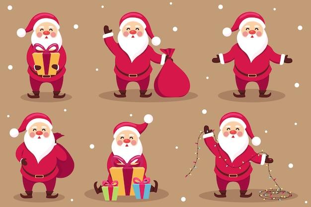 Variety of santa claus illustration