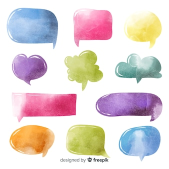 Variety of shapes for chat bubble collection