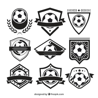 Varietà di badge di calcio
