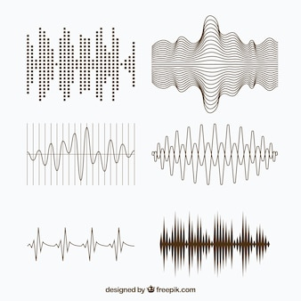 Variety of sound waves with different designs