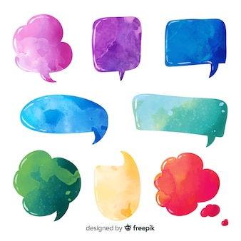 Variety of speech bubble shapes collection