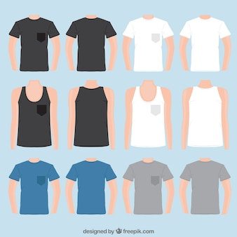 Variety of t shirts