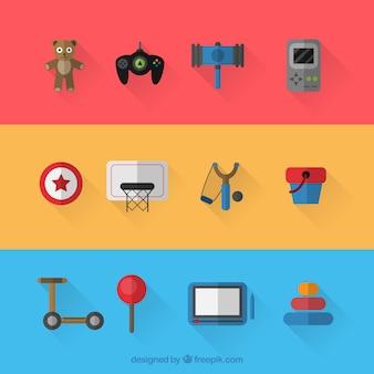 Variety of toys