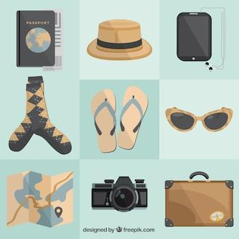 Varietà di elementi di viaggiatori