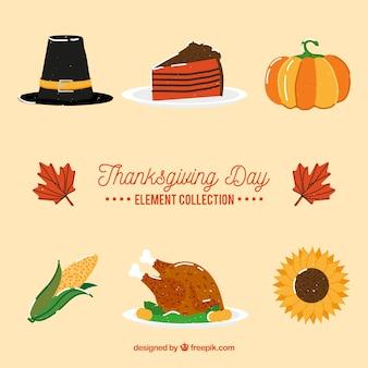 Varietà di elementi tipici del ringraziamento