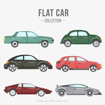 Varietà di veicoli in design piatto