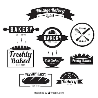 Variety of vintage bakery badges