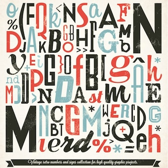 Variety of vintage typography