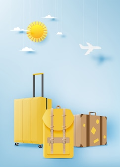 Various bag and luggage for travel