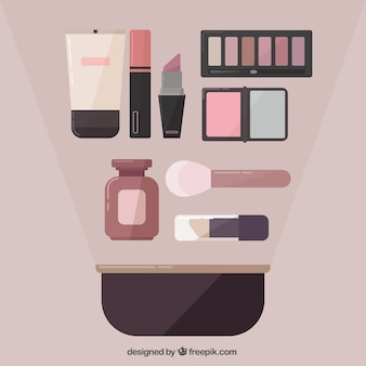 Vari elementi estetici in design piatto