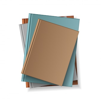 Various blank color books for your design and presentation