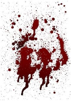 다양한 피 또는 페인트 튀김