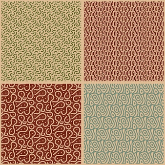 Various brown shades of lines seamless pattern template