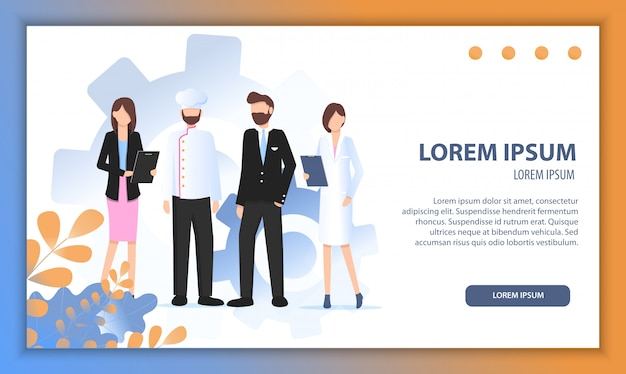 Various career character growing business together