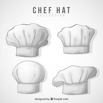 다양한 요리사 모자