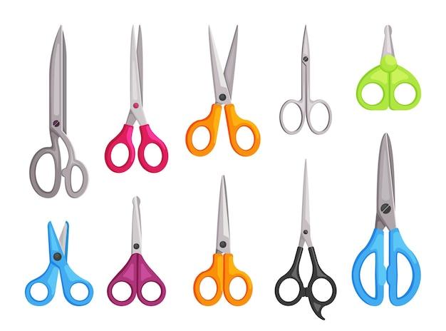 Various colorful scissors illustration