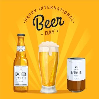 Vari contenitori per design piatto birra