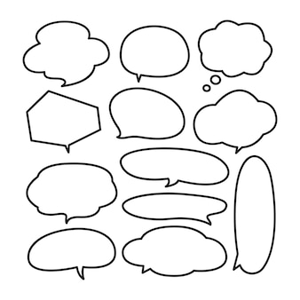 Various cute speech bubble doodle