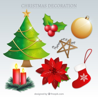 Various decorative christmas items