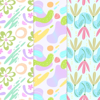Various designs of hand drawn abstract pattern collection