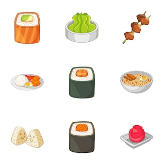 Various different types of sushi set