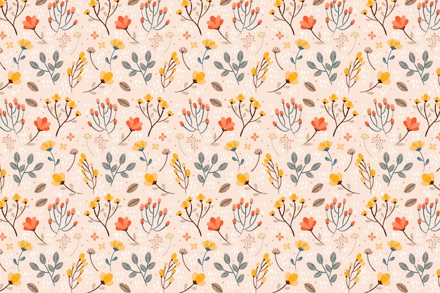 Various flowers seamless pattern print background
