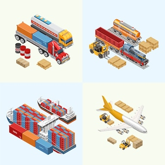 Various freight transport of delivery service