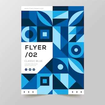 Various geometric abstract shapes flyer template