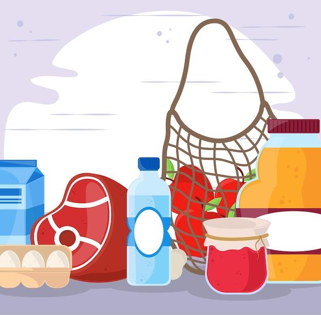 Various groceries fresh