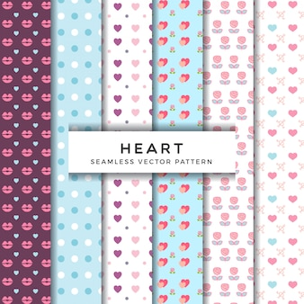 Various heart flower pattern collection