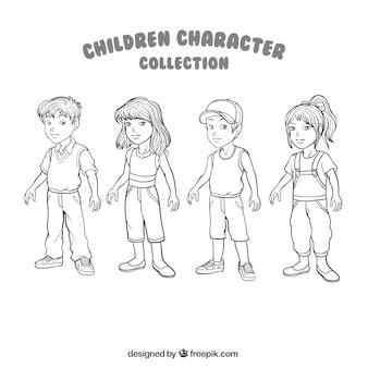 Varie illustrazioni di bambini