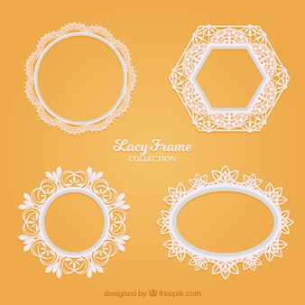 Various lace decorative frames