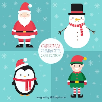 Various lovely christmas characters
