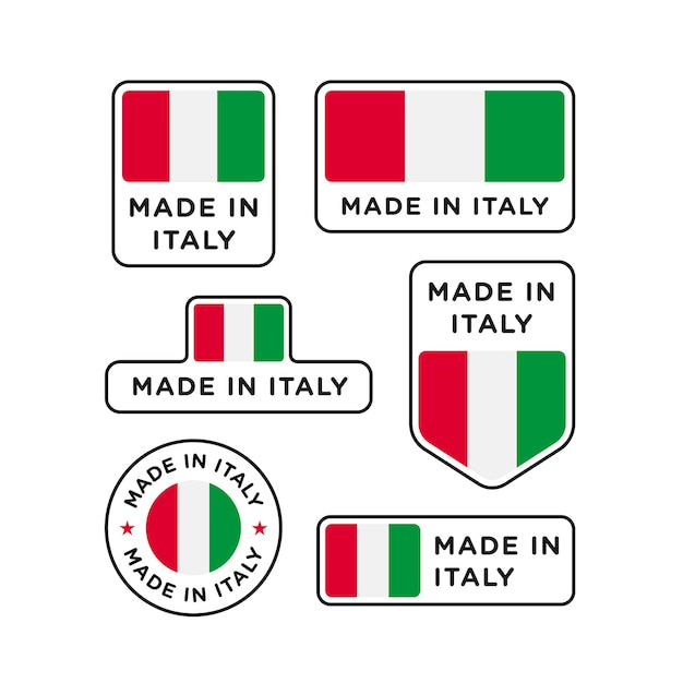 Набор различных наклеек made in italy