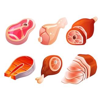 Various meat set