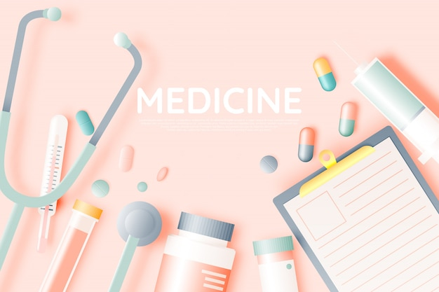 Various medical items and medicine