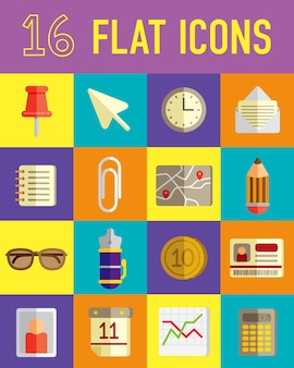 Various object flat icon