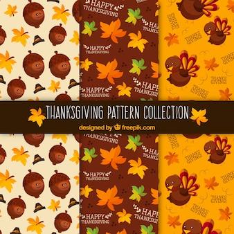 Various patterns of thanksgiving